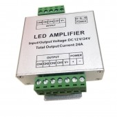 Aluminum RGB/RGBW/RGBWW RGB+CCT Led Amplifier 12A/15A/24A/30A DC12V 24V Led Strip Amplifier Power Repeater Light Controller