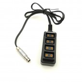 ARRI RS 3pin Male to 1/4 Strips 4 in 1 D-Tap Female Camera power Supply Distributor DTAP fourway splitter