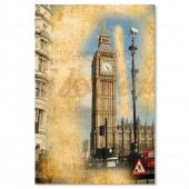 Vintage Retro Picture England London Big Ben Poster Print 24 x 36 Inch