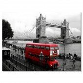 Black and White Canvas Print City Landmark London Bridge Print 24 x 32 Inch