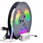 2019 New Upgraded DC24V 65.6'/20meters Waterproof 600 LEDs Bluetooth Music Dream Color Chasing Digital Addressable RGB Flexible LED Strip Light Kit  For Home Party Eaves Car Decoration