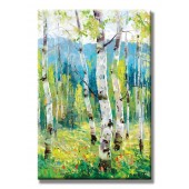 Deciduous Colourful Hand Painted Oil Painting With Stretched Frame Wall Art 24 x 36 Inch