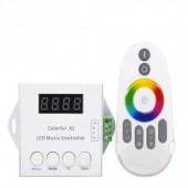 WS2812B WS2811/WS2813/USC1903 Music Controller Colorful x2 DC5V-24V