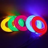 DC 12V IP68 Waterproof Led Neon Light Flexible Neon Strip 24V Outdoor Garden Lamp Neon Clips Signs Lighting 5m