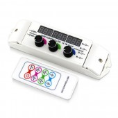 12-24V 6A Wireless LED Rotary RGB Controller with RF Remote