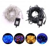DC12V LED String Christmas Garland Fairy LED Holiday Light UK/EU/AU/US Power Adapter 10M Straw Hat