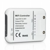 DC12V 24V Wifi LED Controller RGB/RGBW/RGBWW 16 Million Colors Music and Timer Mode Wifi Control by IOS/Android Smartphone 5CH
