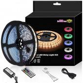 DC12V 5ALed Strip Light Waterproof 600leds 32.8ft 10m Waterproof Flexible Color Changing RGB SMD 5050 600leds LED Strip Light Kit With 44 Keys IR Remote Controller