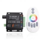 12V 24V RGB Controller with Music Rhythm Control 2.4G RF Remote