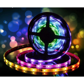 DC12V 5M 16.54ft 150 LEDs Lights Strip Bluetooth Smart Phone APP & RF Remote Controlled RGB LED Strip Rope Lights Waterproof LED Strip Lights Kits Support iPhone Android Rainbow Colors