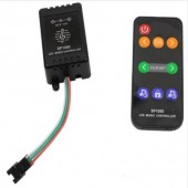 SP106E LED RGB Music Sound Activated Wireless RF Remote Controller DC 5-12V