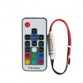 DC5-24V 60-288W 3*4A RF Wireless Mini RGB LED Controller W/ 17keys RF Remote for RGB LED Strip light Lamp Bulbs Red&Black Wire