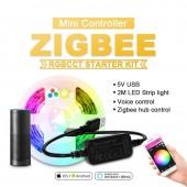 DC5V ZigBee MINI LED RGBCCT Controller Smart TV Strip Light Tape 5V Usb Controller By Alexa Echo Plus Voice Control Zigbee Hub