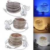 Dimmable 5050 Led Tape 220V Waterproof Flexible Led Strip 60Leds/m Outdoor Garden Lighting With 3m ON/OFF Switch EU Power Plug