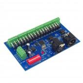 DMX512 18CH RGB Controller DMX512 Decoder With RJ45 DC 12-24V