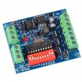 4 Channel RGBW Easy DMX 512 Decoder Dimmer Controller Drive DC5V-24V