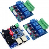 4CH DMX512 LED Controller RELAY OUTPUT Decoder 10A WS-DMX-RELAY-4CH