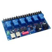 6CH Relay DMX512 Controller RJ45 XLR 6 Way Switch Decoder WS-DMX-RELAY-6CH-30A
