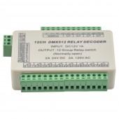 12 Channels DMX512 Decoder Switch Signal Controller Relay Output WS-DMX-RELAY-12CH