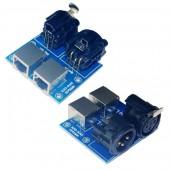XLR3-RJ45 DMX512 Relays Connector to XLR3 for DMX-Relays Controller Decoder