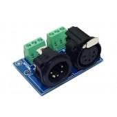 XLR5-3P DMX512 Relays Connector 3pin Terminal Adapter 5 pin XLR 3P