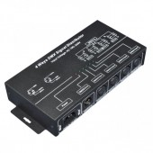 DMX Signal Distributor LED Controller Aluminum Black Shell Output 4 Channels AC100-240V 4W Input 1 CH DMX512 Signal Common Anode