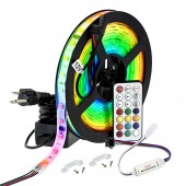 Dream Color LED Light Strips Kit 16.4 Ft SMD 5050 Addressable Pixel UCS1903 RGB Waterproof IP67 Flexible Light Strip with Remote Control And DC12V Power Supply for DIY Lighting And Outdoor Lighting