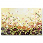 3D Knife Palette Floral Modern Thick Texture Flowers Oil Painting 24 x 36 Inch