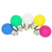 E27 G45 LED Light Bulb 1W Coloured Round LED Color Light Bulb Decoration Lamp Red/Blue/Green/White/Pink/Purple 10PCS