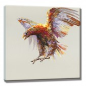Eagles soaring Hand Painted Oil Painting with Stretched Frame Wall Art 24 x 24 Inch
