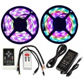 Firsts 32.8ft Dream Magic Colors RGB LED Strip Lights Addressable WS 2811 ICS Control 5050 SMD IP67 Waterproof+RF Remote Controller+6A Power Supply(10M 32.8ft Waterproof Full kit)