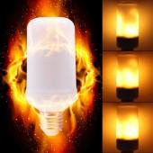 2835 B22 85V-240V Bulb E27 Corn SMD Light 66LEDs Flame Fire LED 5W 1800K 85-265V Lamp Flickering Bulb Light Bulb E14 Live