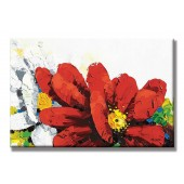 Flower Hand Painted Oil Painting with Stretched Frame Wall Art 24 x 36 Inch