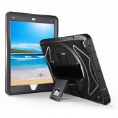 For iPad Air 2 Air 1 Case Kids with Hand Strap Shoulder Belt 360 Stand Shockproof Full Protective Silicone +PC Case Students