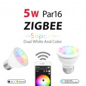 5W Par16 E27 Bulb Zigbee Smart Home Rgb+Cct Spotlight Amazon APP Control