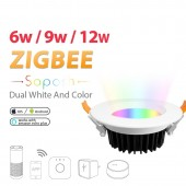 LED Downlight Smart Home ZIGBEE Light RGB CCT Dimmable Lamp Amazon Voice Control