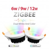 ZIGBEE Smart Home 9W LED RGB CCT Downlight APP Amazon Voice Control