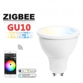 Zigbee WW/CW Dimmer GU10 LED Spotlight 5W ZLL Smart APP Amazon Control Bulb