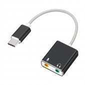 7.1 External Type C Usb Sound Card for Macbook Pro Air USB C 3.5mm Audio Jack Headphone Mic Adapter USB-C Sound Card