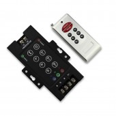 LED 8 Key RGB Controller DC12V-24V 30A Black Iron With RF Remote RGB SMD 5050 3528 Led Strip Light Led Modules Dimmer