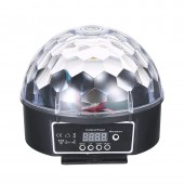 9 Colors LED Disco Ball DMX Crystal Magic Ball Stage Lighting Effect DJ Party Christmas Sound Activated Light With Remote