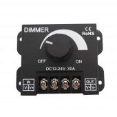 2 Pcs DC12V-24V LED Dimmer 30A 360W Adjustable Brightness Lamp Strip Light Driver Single Color LED Controller 5050 3528 Tape