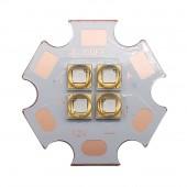 2pcs 10W LG3535 4D UV Ultraviolet 380nm 395nm High Power LED Bulb 4 LEDs 3V 7V 14V 120 degree Viewing Angel