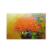 100% Hand Painted Oil Painting Abstract Flower Knife Painting 24 x 36 Inch