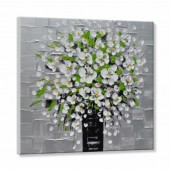 100% Hand Painted Oil Painting Landscape Blossom Kinfe 32 x 32 Inch
