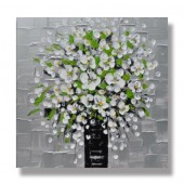 100% Hand Painted Oil Painting Landscape Blossom Kinfe 40 x 40 Inch