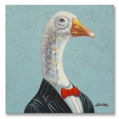 Animal Gentle Goose 100% Hand Painted Oil Painting 24 x 24 Inch