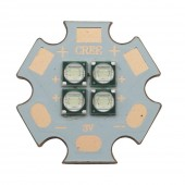2PCS Epileds 3535 Cyan Color 490nm 4D 12W High Power Plant Grow 4LEDs LED Blub 3V / 6V / 12V 20mm Copper PCB