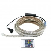 Waterproof 5050 RGB LED Strip Light 60 LED/M With Plug and Remote Controller