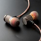 Hot Original KZ ED EDR1 Gold Plated Housing Earphone Double Magnets Drivers Noise Isolating HD HiFi Earphones High Sensitivity